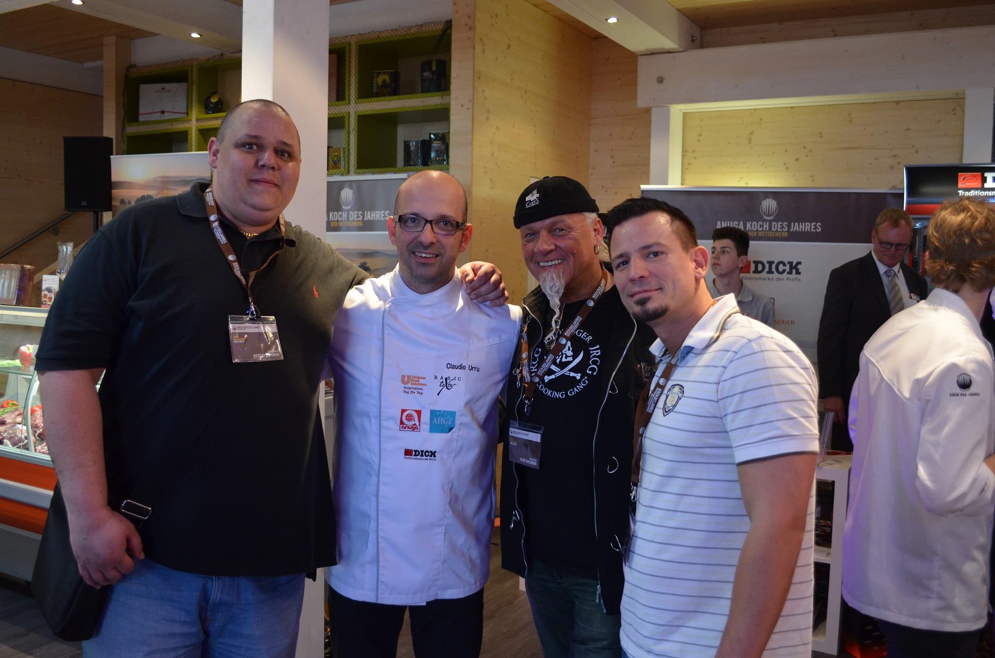Claudio Urru mit René Kalobius, Gregor Raimann und Bernd Zehner