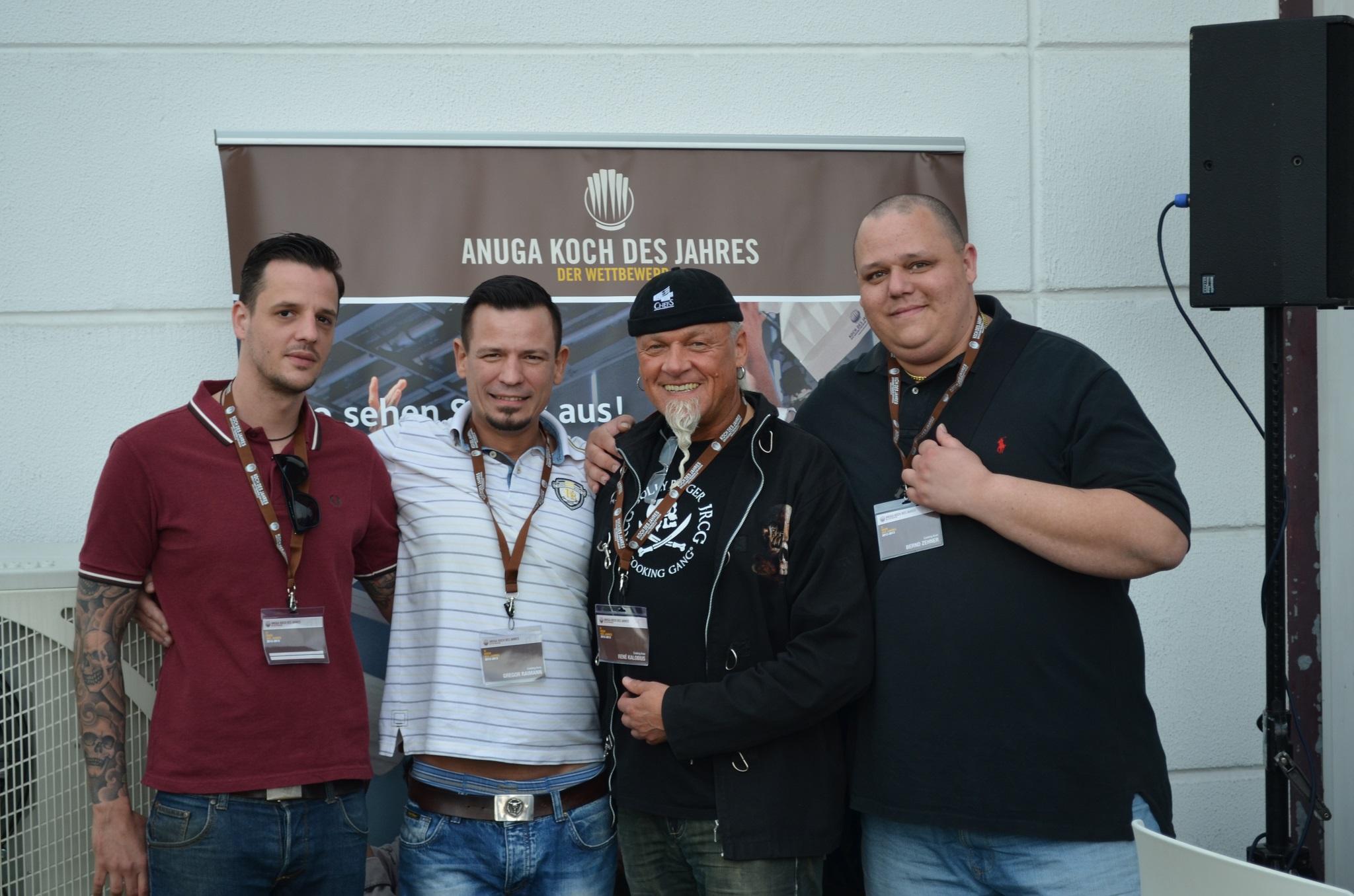 Cooking Aces bei Koch des Jahres in Köln. Sebastian Franke, Gregor Raimann, René Kalobius und Bernd Zehner